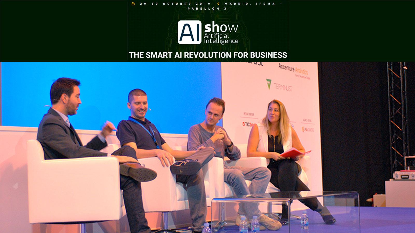 Ponencia sobre Inteligencia Artificial en evento AIshow