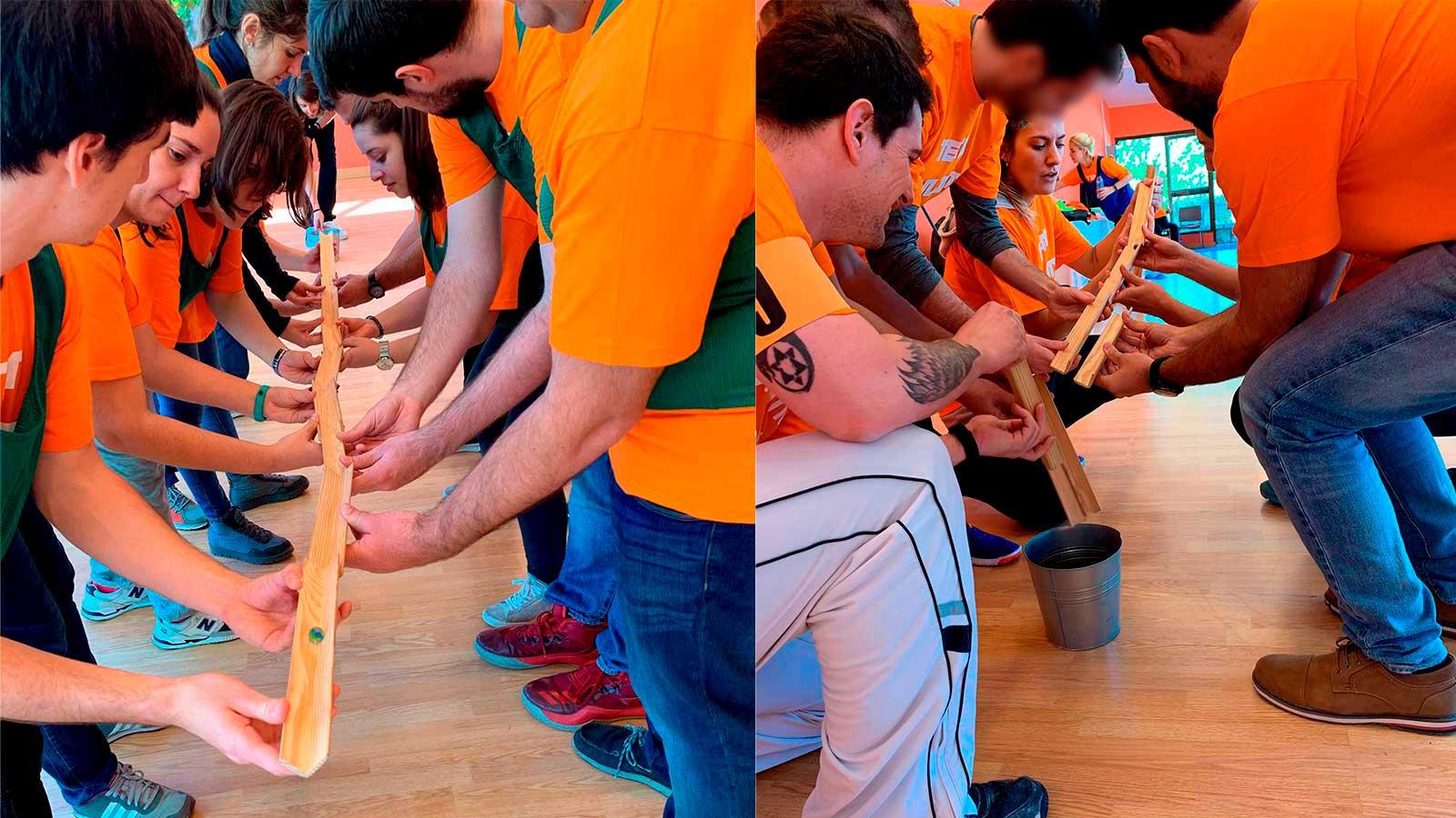 Actividad de organización en el Team Building de Walmeric
